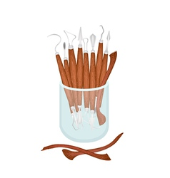 Set of Sculpting Tools in A Jar vector