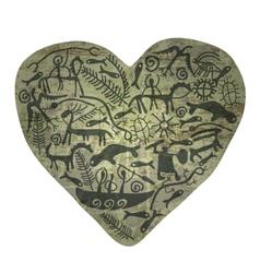 Shamanic heart vector