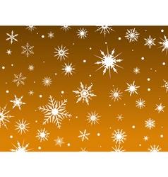 snowflakes orange vector image