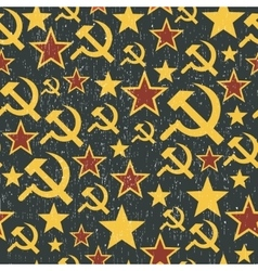 Soviet Union signs pattern vector image