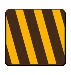 Square of traffic barrier icon vector