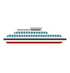 Steamship icon flat style vector