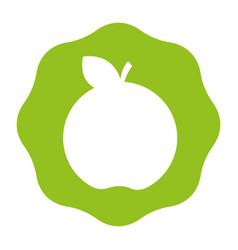 Sticker delicious apple healthy fruit vector