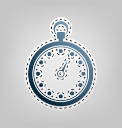 stopwatch sign blue icon vector image