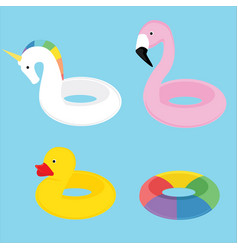 swim summer ring vector image