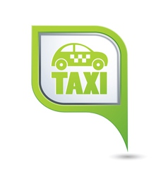 taxi icon on green map pointer vector image