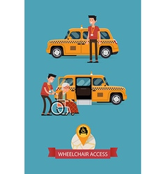 Taxi with Wheelchair Access Icon vector