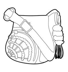 Teenage school backpack icon outline vector