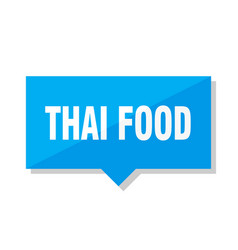 thai food price tag vector image