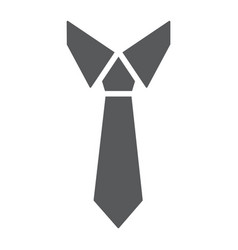 Tie glyph icon office and business necktie sign vector