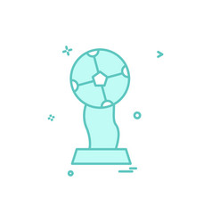 trophy winner icon design vector image