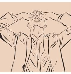 Vintage Hand Drawn Gentleman Men s clothing vector
