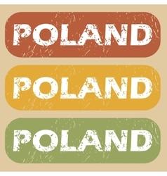 Vintage poland stamp set vector