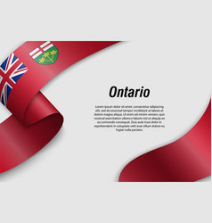 Waving ribbon or banner with flag province of vector