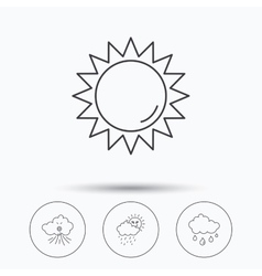 Weather sun and wind icons vector image