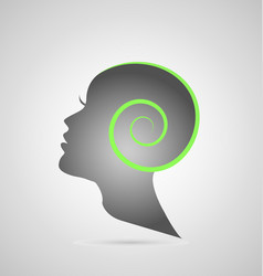 woman head creativity silhouette icon vector image
