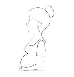 woman pregnant avatar character vector image vector image