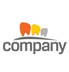 dental practice teeth logo vector image vector image