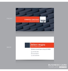 modern dark grey business card name card template vector image vector image