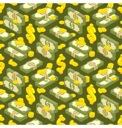 Money isometric seamless pattern vector image
