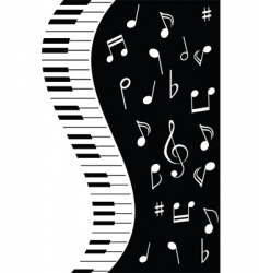 music piano note vector image