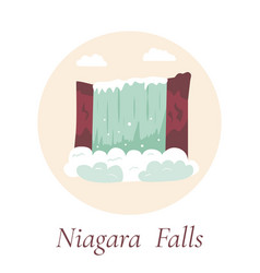 niagara falls natural landmark of canada and usa vector image vector image