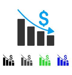 recession flat icon vector image