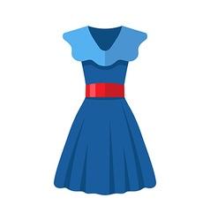 Flat design blue women dress vector image vector image