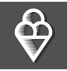 Ice Cream Icon On Dark Background vector image vector image