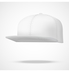 Layout of Male white rap cap vector image vector image