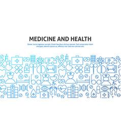 medicine health concept vector image