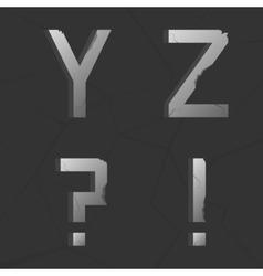 Retro alphabet vector image