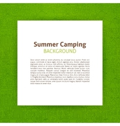 Summer Camp Paper Template vector image