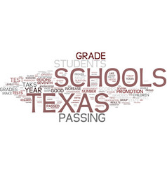 texas schools show some important gains on taks vector image