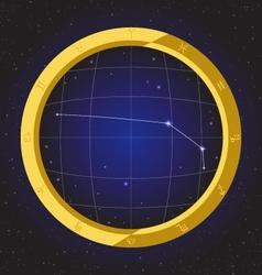 aries star horoscope zodiac in fish eye vector image vector image