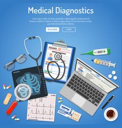Medical diagnostics concept vector