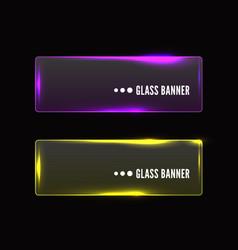 modern transparent glass banner set vector image