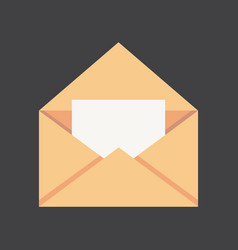 old paper letter messege vector image
