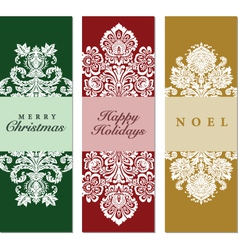Collection tall holiday frames vector image vector image
