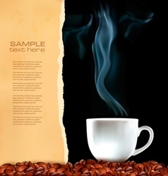 menu cup of coffee vector image vector image