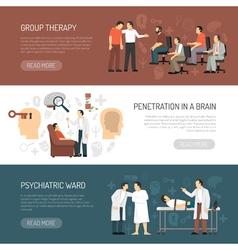 Psychologist Horizontal Banners vector image vector image