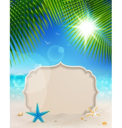 tablet on landscape vector image vector image