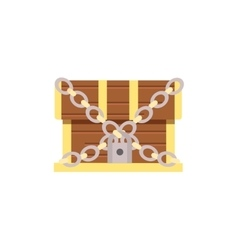 wooden chest cartoon with lock vector image vector image