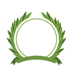 wreath crown frame icon vector image vector image