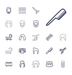 22 haircut icons vector