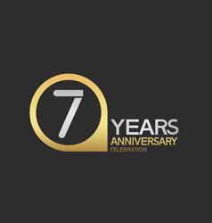 7 years anniversary celebration simple design vector