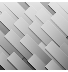 Abstract grey paper rectangle shapes background vector