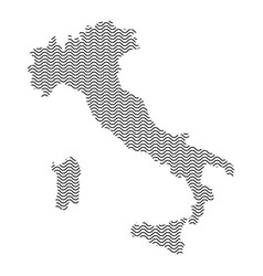 Abstract italy country silhouette of wavy black vector