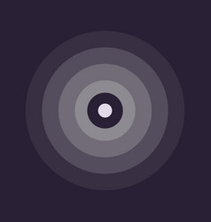 abstract line ripple emblem radar sound vector image