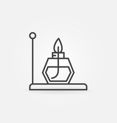 Alcohol burner outline icon - chemistry vector